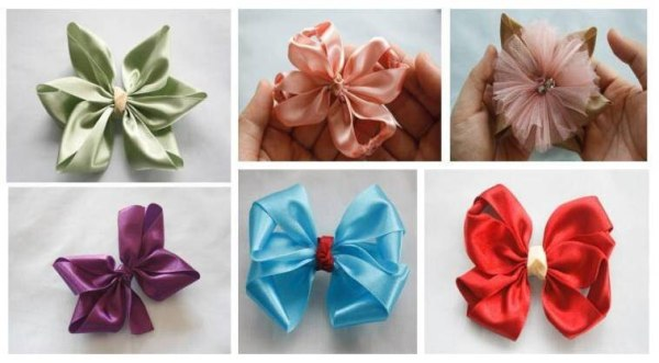 All variations of Lucia Hair Bows Tutorial