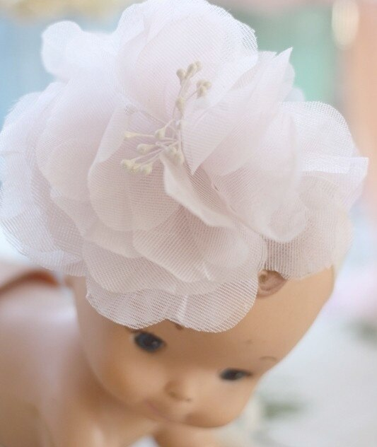 Hand Pressed Rose Fabric Flower Tutorial was used in making this fascinator