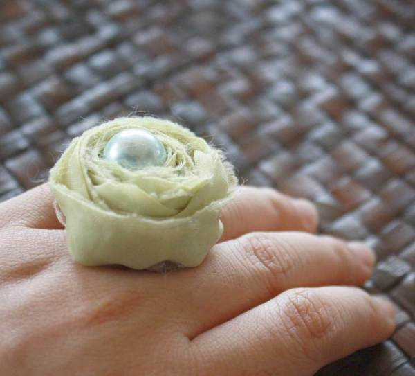 Fabric Flower Tutorial to Embellish Cocktail Rings | Ranunculus Rose