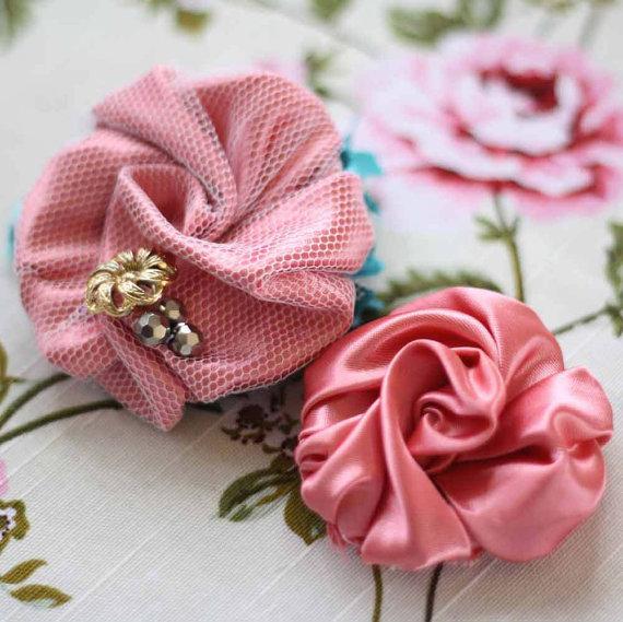 DIY Rose Fabric Flower Craft Tutorial