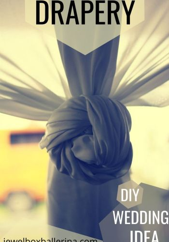 drapery diy wedding curtain idea