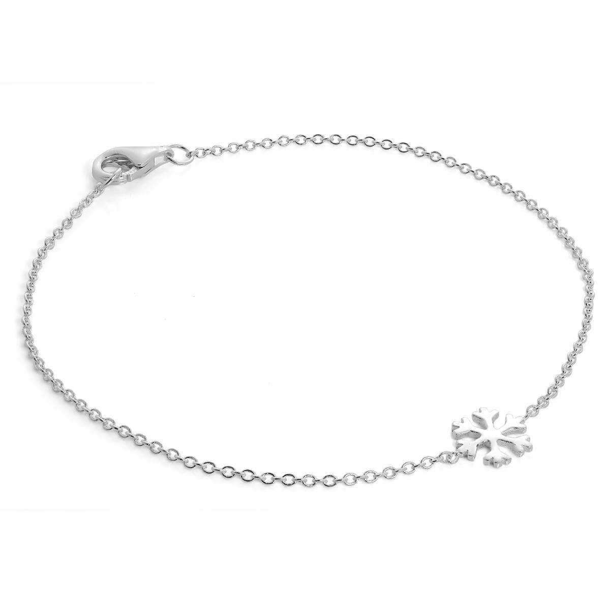 Sterling Silver 7 Inch Snowflake Bracelet