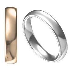 Kupad oval förlovningsring