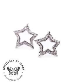 Örhängen stjärnor med diamanter