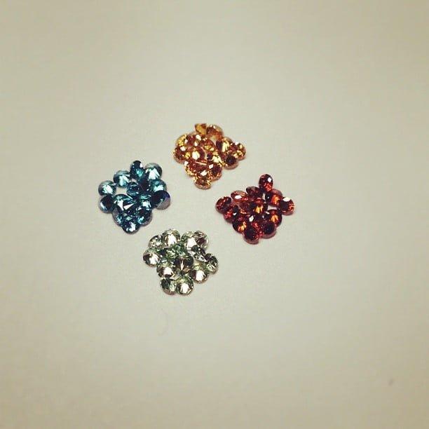 färgade diamanter