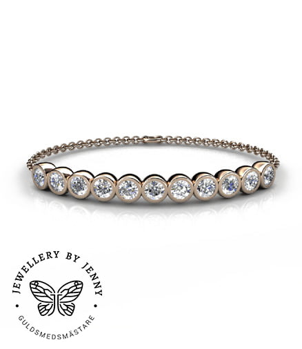 guldarmband med diamanter