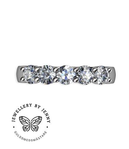 alliansring vitguld med briljantslipade diamanter
