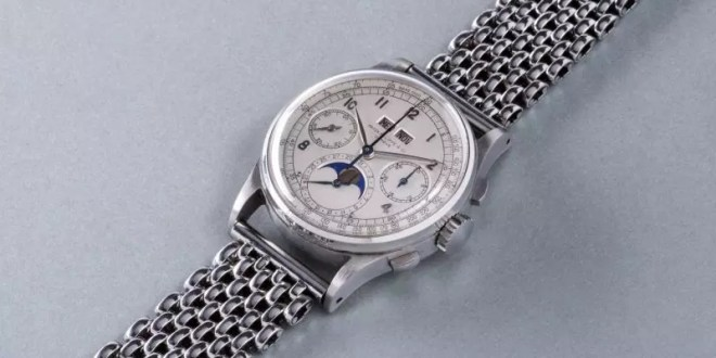 Patek Philippe watch fetches record £8.8m at auction