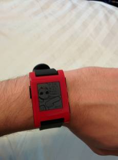 04 - This is just a pebble but I have one of my favorite watch faces on it