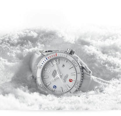 omega watch in snow
