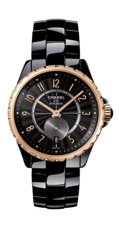 Chanel-J-12-365-Black-Ceramic-Beige-Gold-Watch-H3838