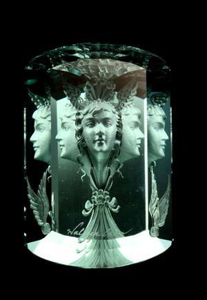 engraved aquamarine
