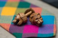 KARV-Cufflinks-Lions-Natural-Tie-Detail