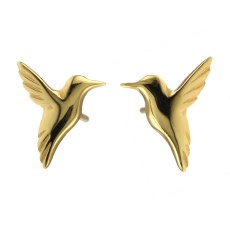 Jana Reinhardt Gold Hummingbird Earrings hb-es-gp