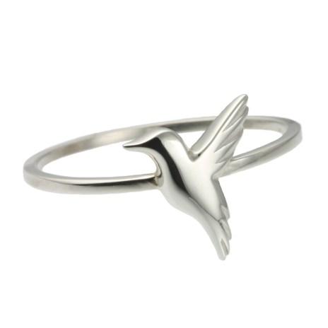 Jana Reinhardt Small Silver Hummingbird Ring small-hb-ring