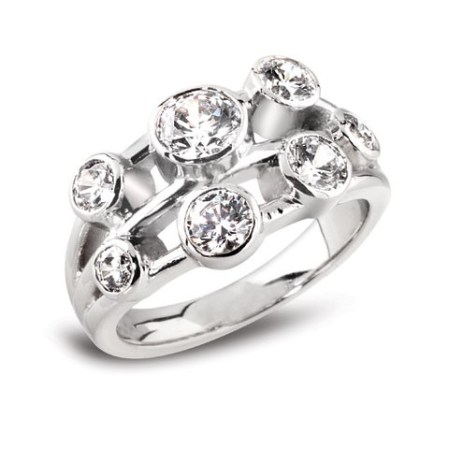 7 stone diamond ring