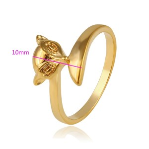 24K Gold Plated Copper Fox Head Ring