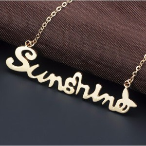 18K Rose Gold Stainless Steel SUNSHINE Necklace