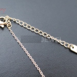 5MM | 18K Rose Gold Plated Stainless Steel Solitaire CZ Necklace
