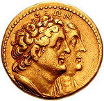 Coin with Ptolemy and Berenice