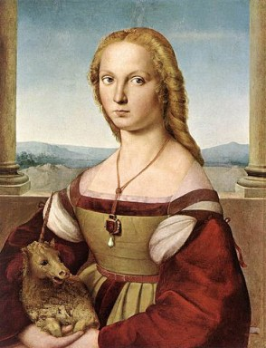 Lady with Unicorn by Raphael