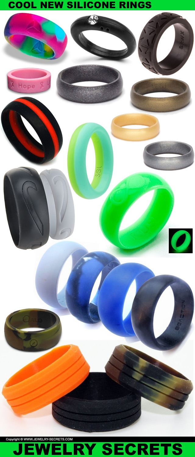 COOL NEW ACTIVE SILICONE RINGS Jewelry Secrets