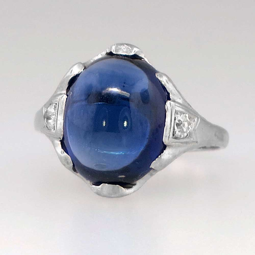 Impressive Art Deco Old Mine Cut Diamond Amp Synthetic
