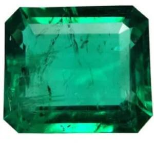 cut emerald gemstone