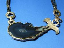 Fortification agate pendant