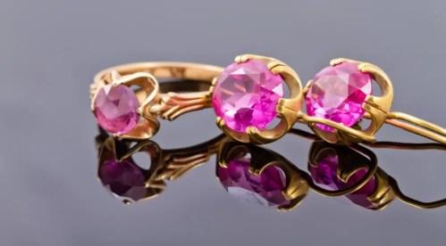 Alexandrite jewelry set