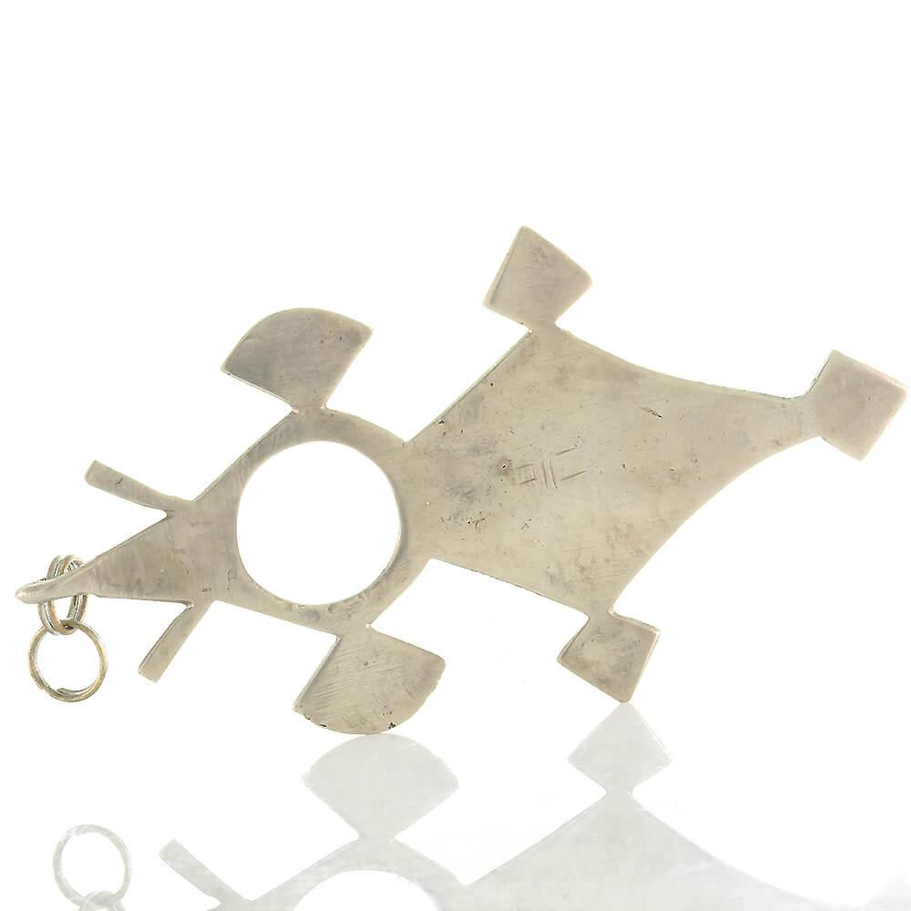 Tuareg Afrikanischer Kreuz Sterling Silber Vintage Anhänger bfvY76gy