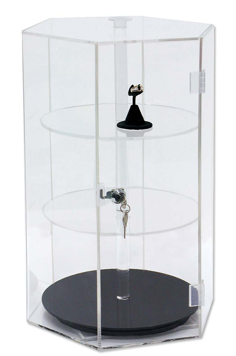 Acrylic Revolving Countertop Showcase Jewelry Display