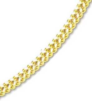 <br /> 14k Yellow 6 mm Mens Fancy Bold Franco Necklace - 26 Inch<br />