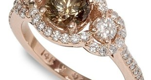 fancy colored Chocolate diamond ring