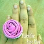 Valentine leather rose ring tutorial