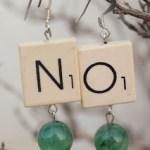Statement Scrabble tile Earrings