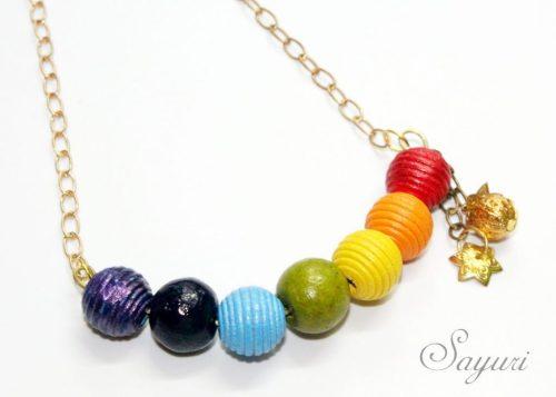 St.Patrick's day jewelry roundup rainbow necklace