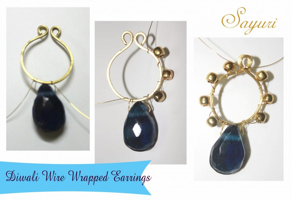 DIY Wire wrapped earrings for Diwali | Jewels of sayuri