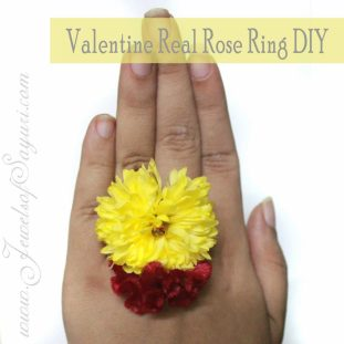 Valentine real flower jewlery DIY