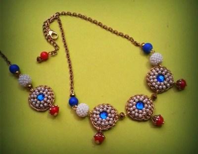 gold crochet choker