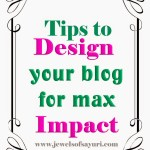Tips to design your blog – part 2