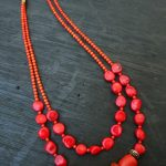 DIY Christmas Coral Necklace