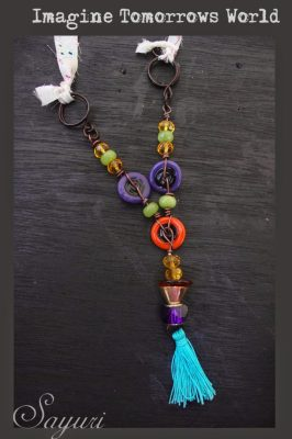 Jan ABS challenge lampwork bead necklace