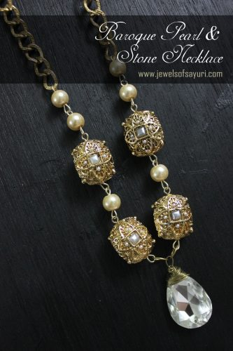 DIY Baroque necklace with Pacchi beads