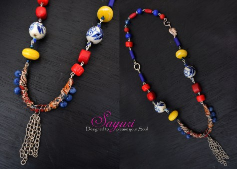 kalamkari necklace