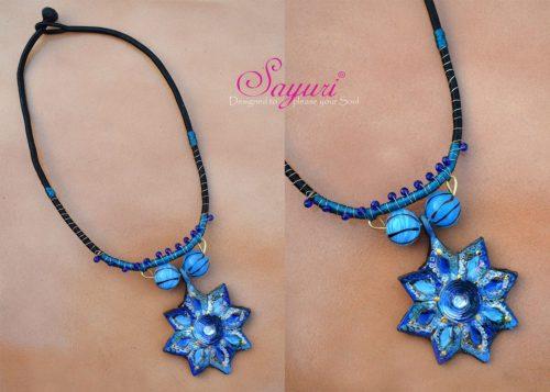 indigo chakra necklace