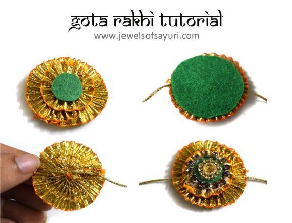 Gota Rakhi DIY Tutorial by Sayuri