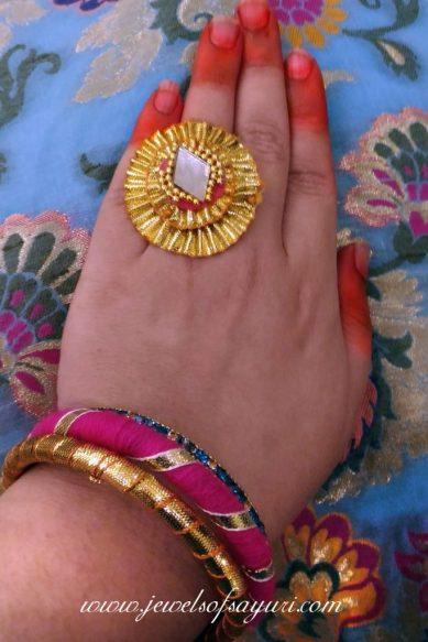 how to wear gota jewelry