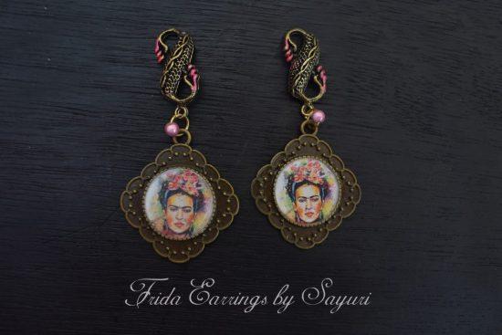 Frida kahlo stud earrings