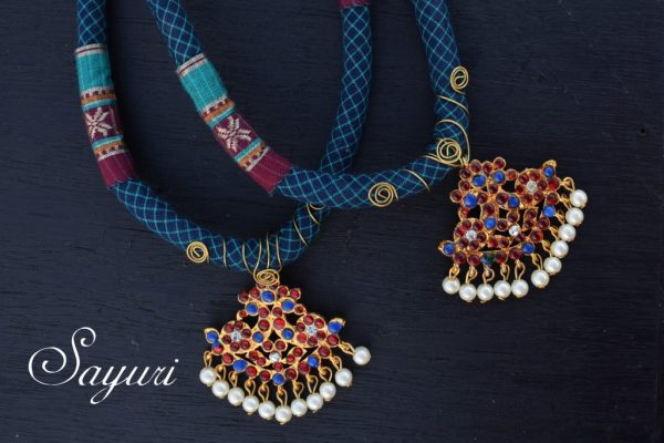 Fabric aarum necklace
